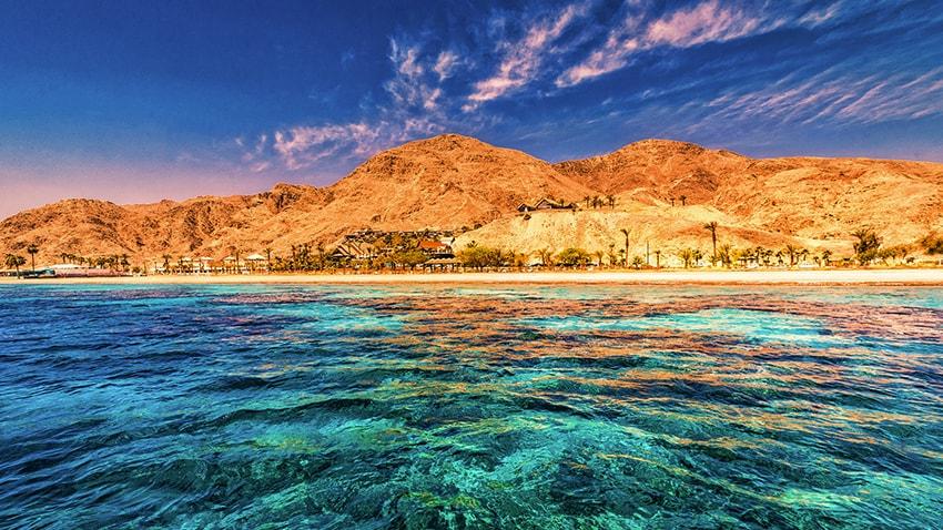 Vedere dinspre mare în Eilat